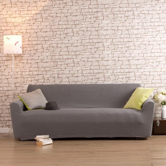 housse de canapé extensible 3 places Housse de canapé 3 places bi extensible LISA   Achat / Vente  housse de canapé extensible 3 places