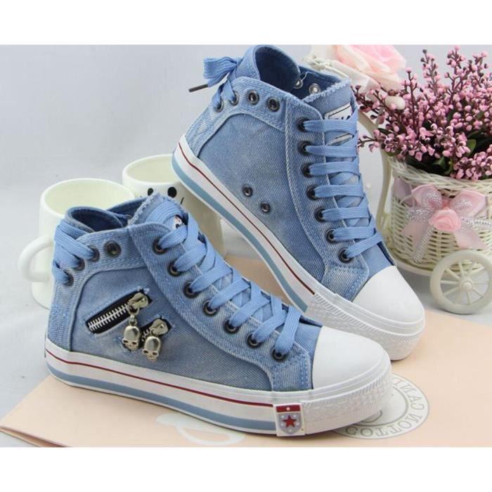 Printemps cor en Loisirs Sneakers femmes Gris c...