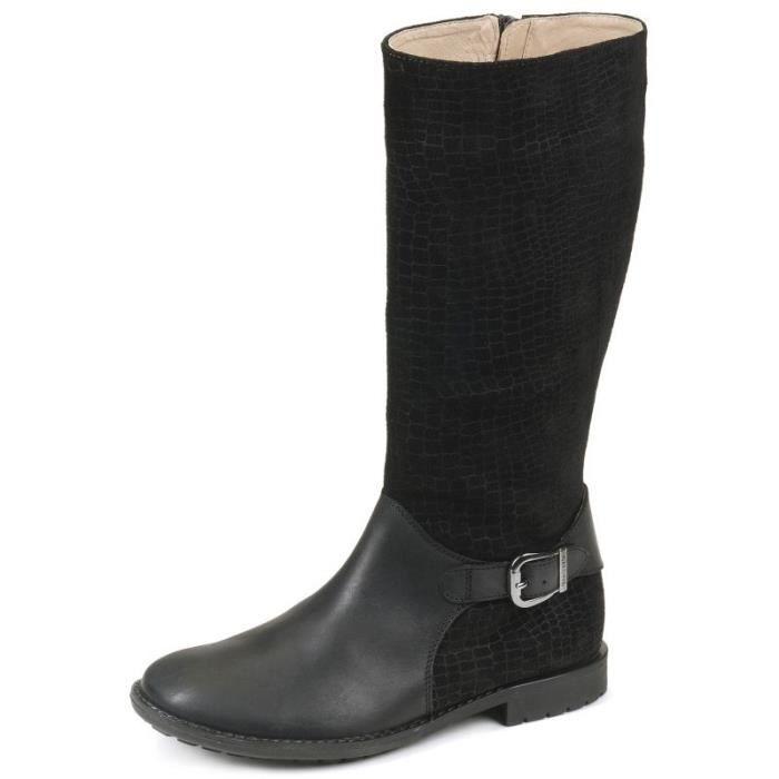 Bottes noir fille Garvalin 151676A