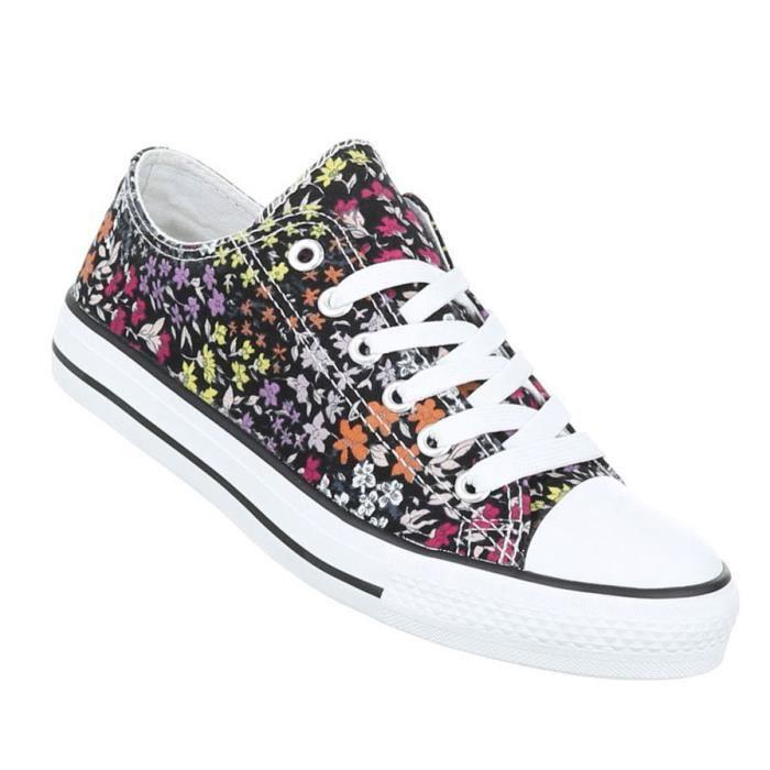 Femme chaussures loisirs chaussures coloré Sneakers rouge Multi 41 7K9gev