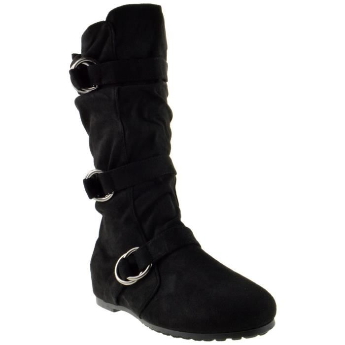 Kayden 88 Femmes Boucle Mi-mollet Bottes Slouch ZFCFE Taille-37 1-2