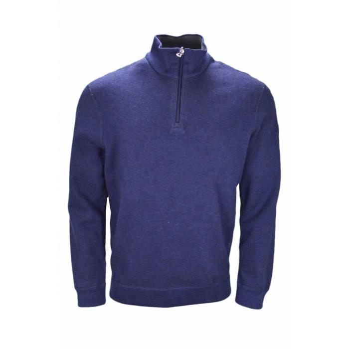 Pull réversible Ralph Lauren col montant bleu marine et gris pour homme -  Taille  S - Couleur  Bleu f0929a71a64