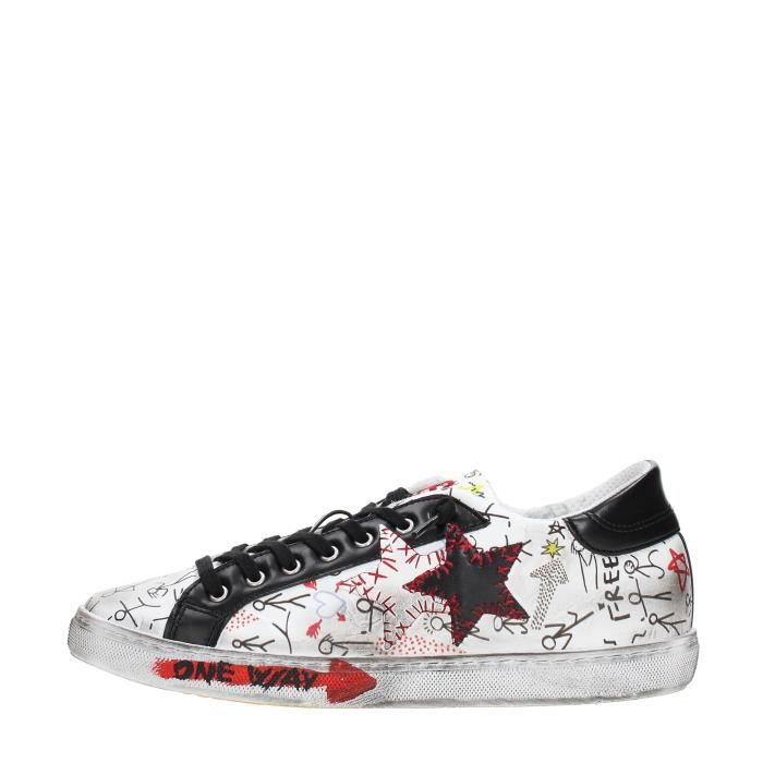 2 Star Sneakers Homme WHITE/BLACK, 40