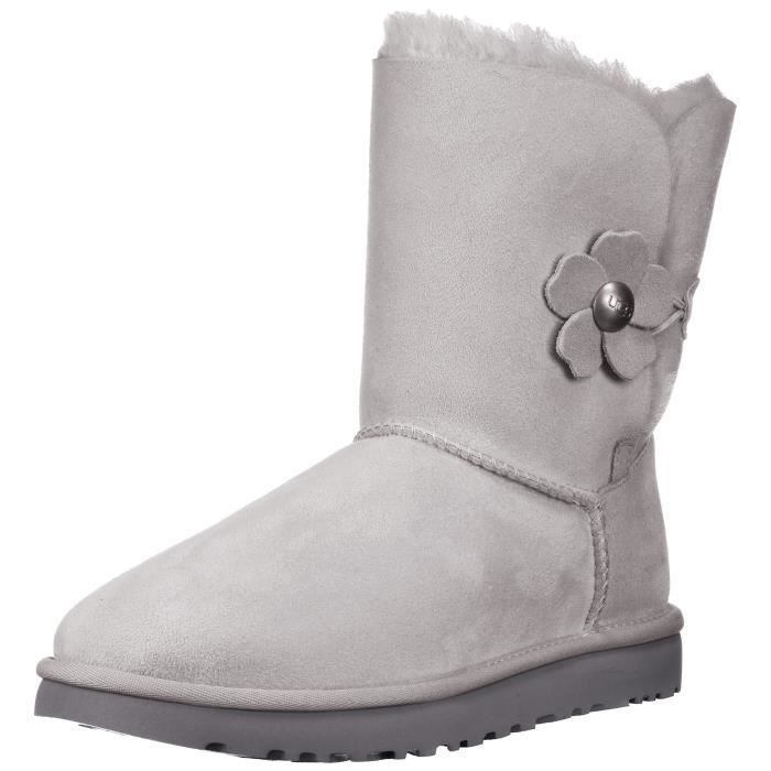 41d1fbf425e Bottes UGG Bailey Button Poppy - Gris Violet DPF9F Taille-36 1-2