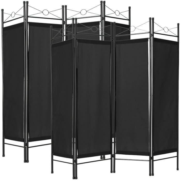 paravent s paration de pi ces cloison amovible 4 panneaux pans pliables en toile polyester. Black Bedroom Furniture Sets. Home Design Ideas