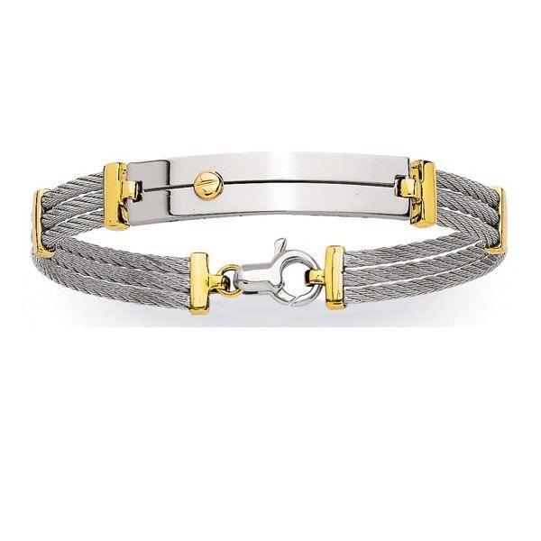 Bracelet homme avec cable acier