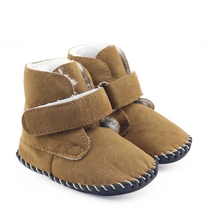 BOTTE Bébé Bébé Filles Garçons Bottes Bottes Semelle Souple Pré-Marcheur Chaud Chaussures@KhakiHM