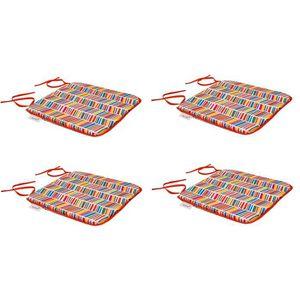 COUSSIN D'EXTÉRIEUR EZPELETA Set de 4 Coussins de chaises carrées Sol