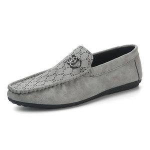 MOCASSIN Hommes Mocassins PU Cuir Chaussures Plat Flâneurs