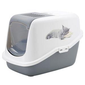MAISON DE TOILETTE Maison de toilette pour chat Nestor avec chaton im