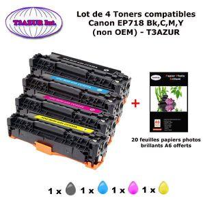 TONER 4 Toners génériques Canon EP718 Bk,C,M,Y pour Cano