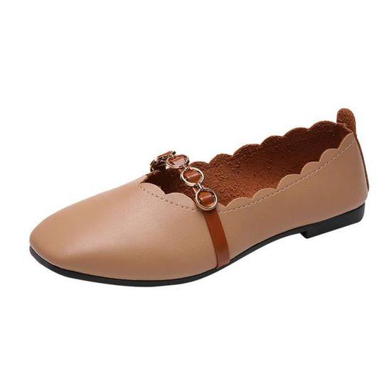 Pachasky®Femmes Vintage Chaussures De Perle De Botte Martain Bottes Daim Plat Cheville Bottes Zipper Boot@Gris Marron Marron - Achat / Vente botte
