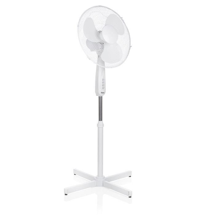 TRISTAR VE-5948 Ventilateur sur pied Ø40 cm - 50 watts - 3 vitesses - Oscillant - Blanc