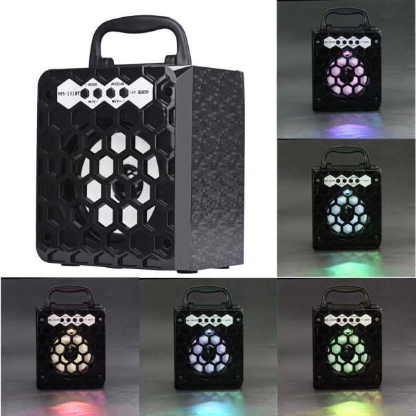 Ouniondo® Extérieur Sans Fil Bluetooth Haut-parleur Portable Super Bass Avec Radio Usb - Tf Aux Fm Noir_180