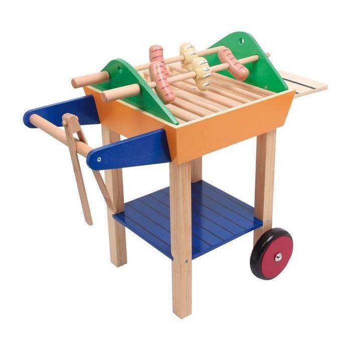 Jeux barbecue en bois achat vente jeux et jouets pas chers - Dinette en bois pas cher ...