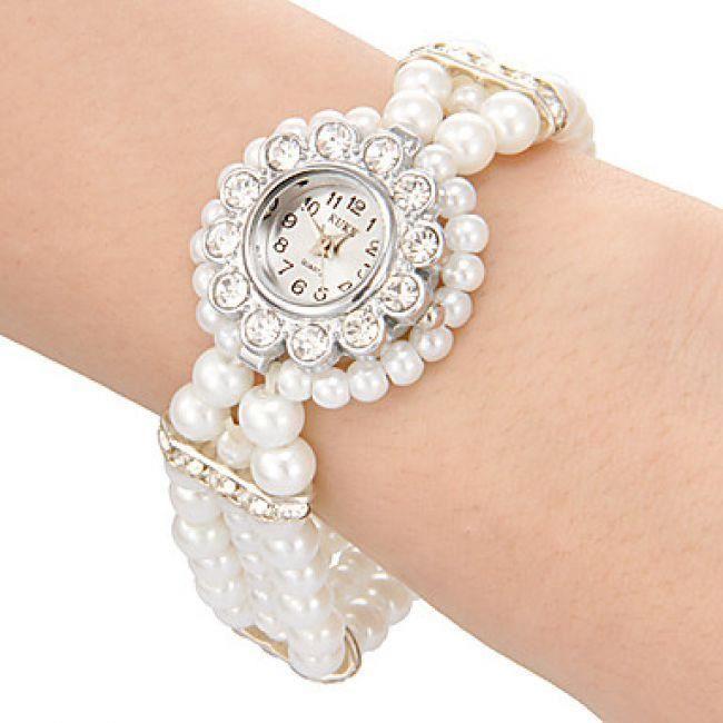 Femme Des Montre Pour Avec PerlesAchatvente Bracelet 3jA54RqL