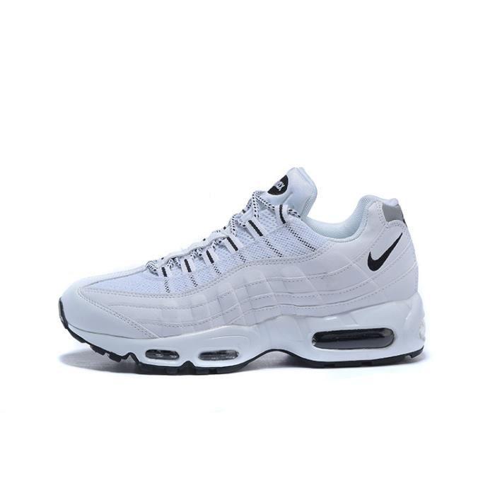 pretty nice d03a8 07089 Nike Air Max 95 Baskets Chaussures De Sport Blanc