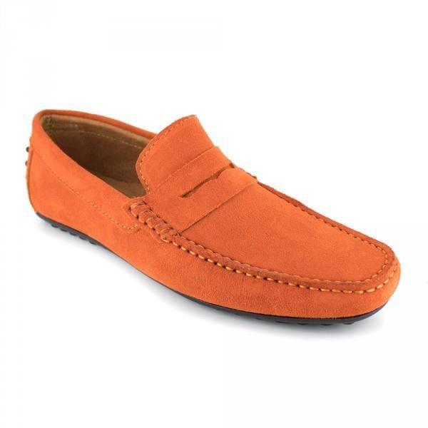 Mocassin J.Bradford Cuir Orange JB-ROBE - Couleur - Orange TvvjN6