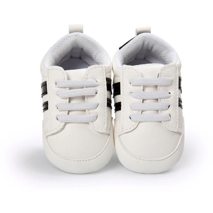 Frankmall®Chaussures bébé en cuir antidérapant Soft Bottom chaussure de sport pour enfants NOIR#WQQ0926107