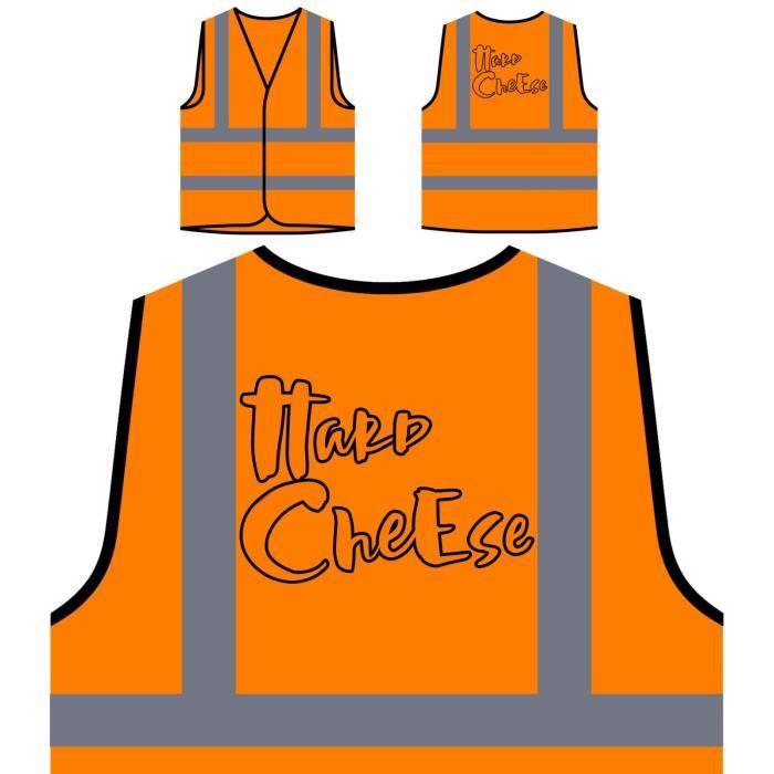 Personnalisée Veste Visibilité À De Orange Haute Visi Cheese hard Protection Funny Htq6wtT