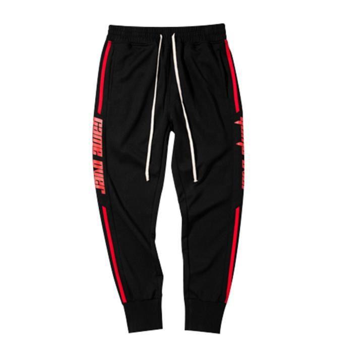 Bas de survêtement pour hommes Slim Fit genou Jogging Gym pantalons  décontractés Pantalon 777 5384f637640b