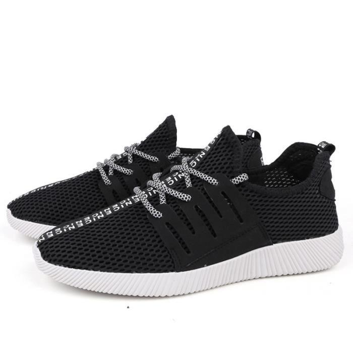 Chaussures De Sport Pour Hommes Textile De Course Populaire BBDG-XZ130Noir39