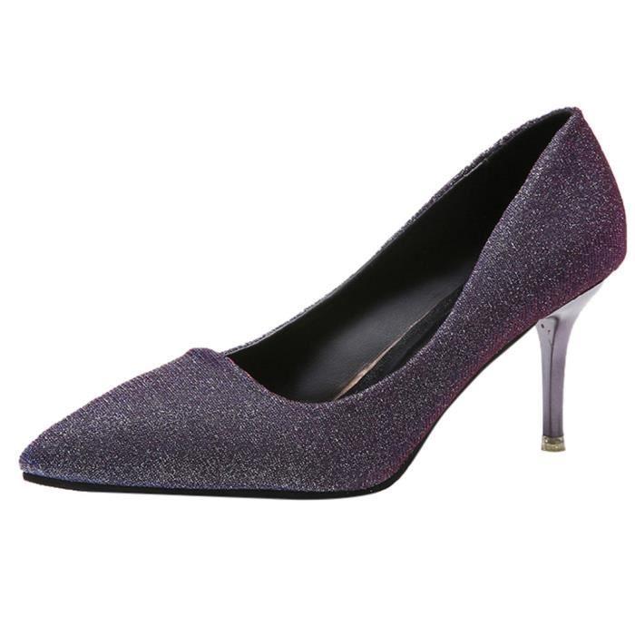 Haut Stiletto La Chaussures Talon Femmes 11625 Paillettes Pointu De Veberge Mode Sauvages Simples zqnIIEaX