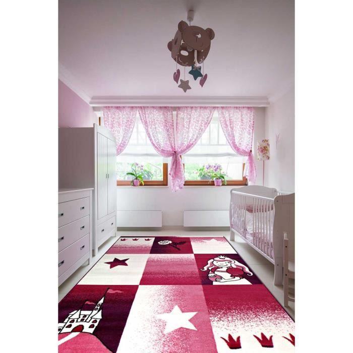 Tapis chambre filles BAMBINO PRINCESSE violet 80x150, par Dezenco ...