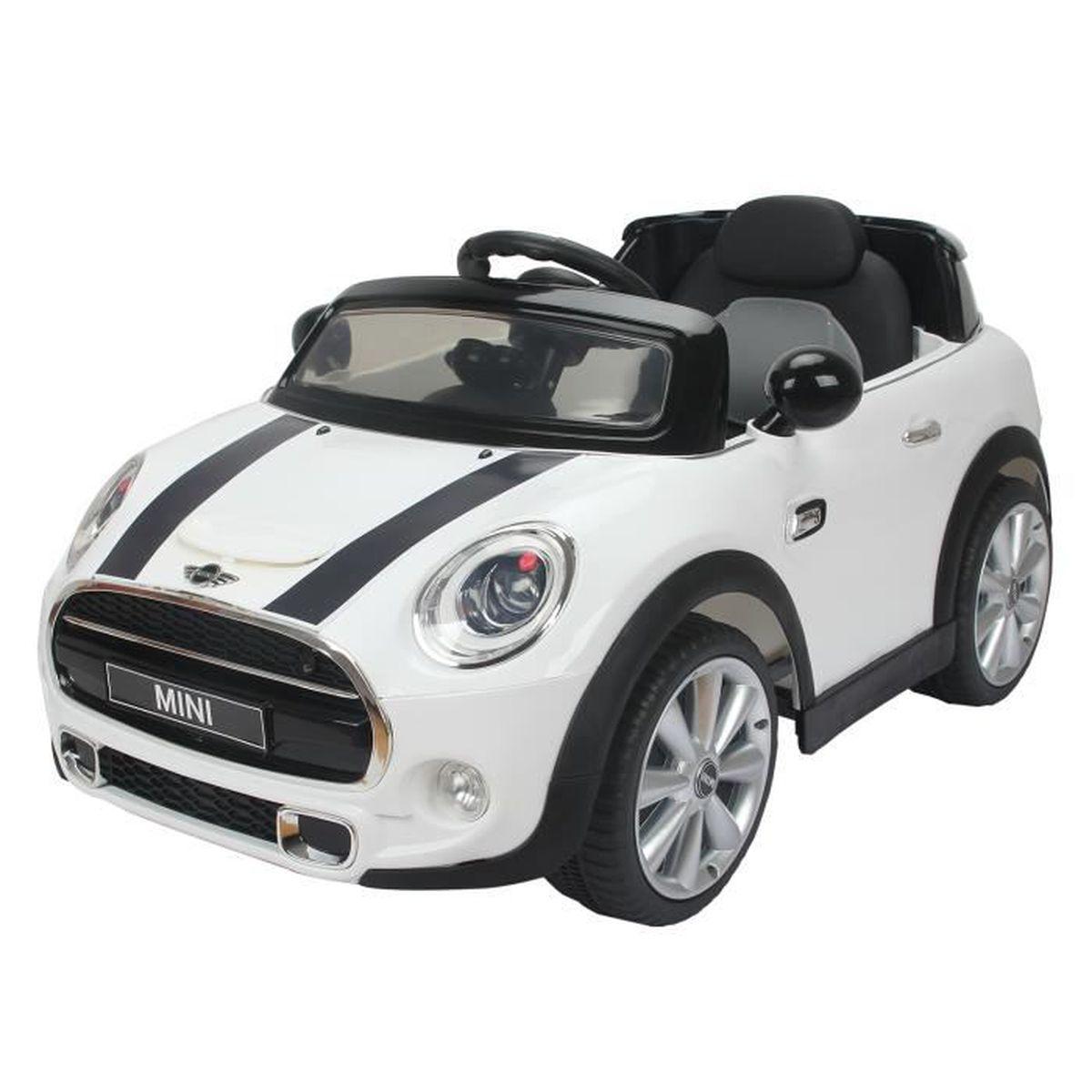 mini cooper voiture lectrique enfants partir de 37 mois 2 moteurs 6 v 2 5 5 km h phares. Black Bedroom Furniture Sets. Home Design Ideas