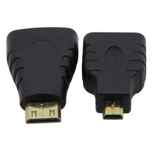 CÂBLE TV - VIDÉO - SON HDMI à VGA avec audio + mini-micro HDMI à HDMI ada