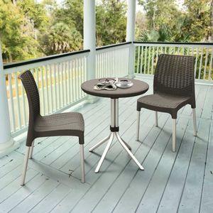 Ensembles de meubles d\'exterieur Couleur : graphite et argente ...