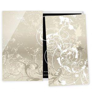 couvre plaque de cuisson nacre ornament design 52x60cm. Black Bedroom Furniture Sets. Home Design Ideas