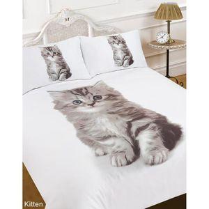 Parure de lit chaton achat vente parure de lit chaton - Housse de couette angleterre 2 personnes ...