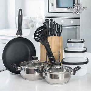 BATTERIE DE CUISINE Set de Cuisine Bravissima Kitchen (17 pieces)