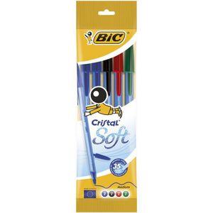 Stylo - Parure BIC Stylo-bille cristal soft assortis x5
