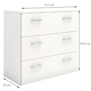 Commode Blanc Achat Vente Commode Blanc Pas Cher Cdiscount