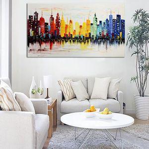 TABLEAU - TOILE TEMPSA Peinture à Huile Tableau en Toile Coloré Ci