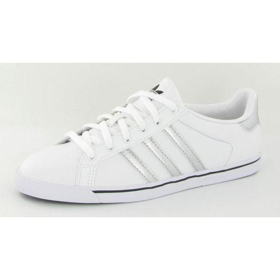 Chaussures Adidas Court Star Slim Blanc Blanc Achat