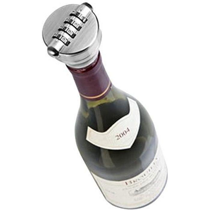 Cadenas bouchon de bouteille s curis code vin serrure combinaison 4 chiffres pour les - Diametre bouteille de vin ...