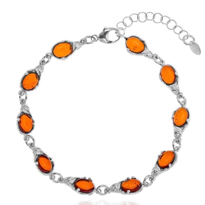 30e9ee28cc7 Bracelet ambre argent femme - Achat   Vente pas cher