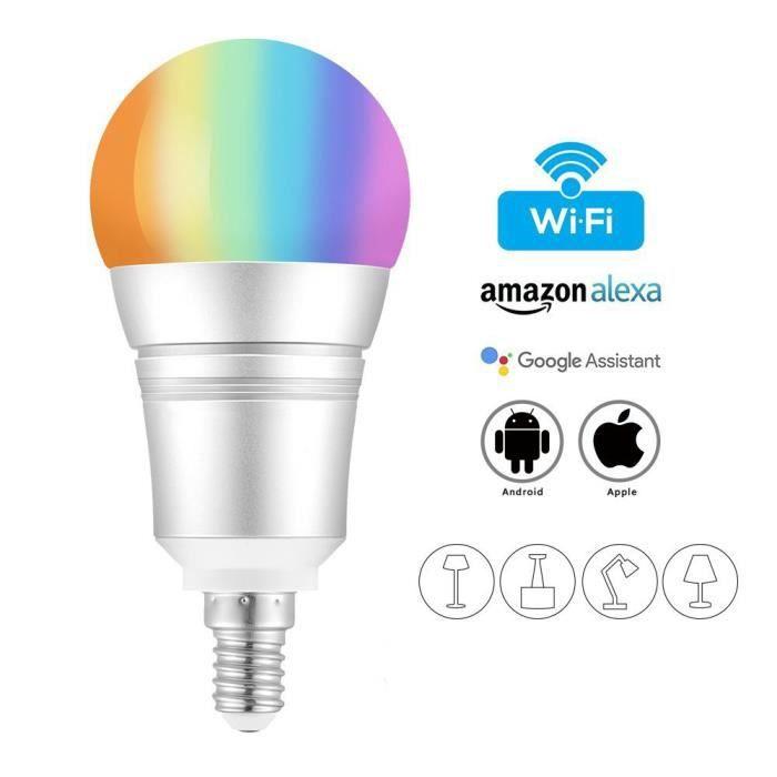 Juce® Wifi 9w Changement Couleur Led Connectée De Intelligente Rgb Ampoule E14 Télécommande vI7gbfY6y