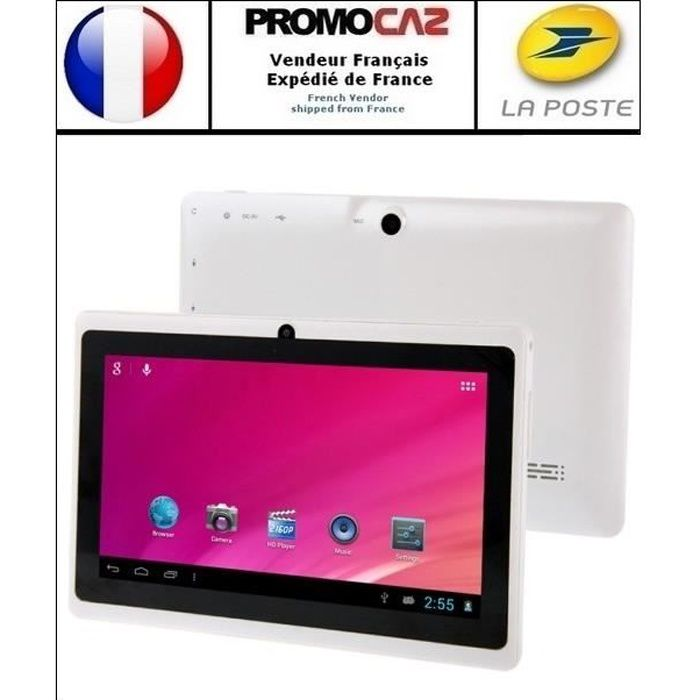 TABLETTE ENFANT Tablette HSD7080 blanc, 7 pouces, 8 GO, Android 4,