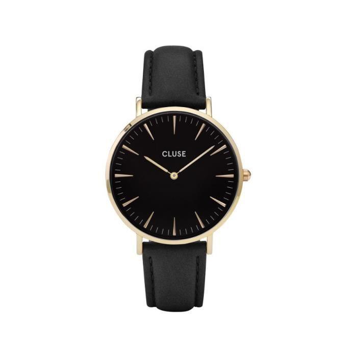 MONTRE CLUSE Montre CL18401 - Bracelet cuir - Femme - Noi