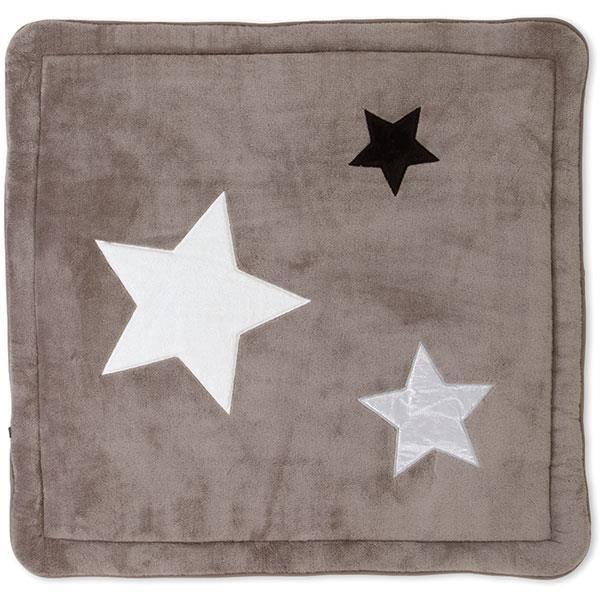 tapis de parc b b 100x100cm softy stari grizou gris. Black Bedroom Furniture Sets. Home Design Ideas