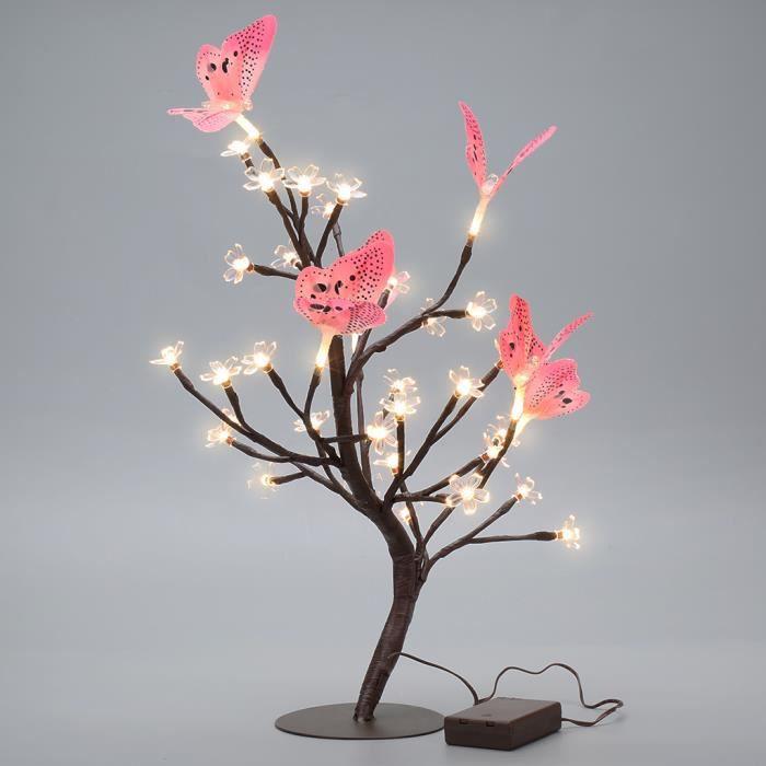 Finether Rose Arbre Lumineux De Fleurs De Cerisier Papillon Arbre