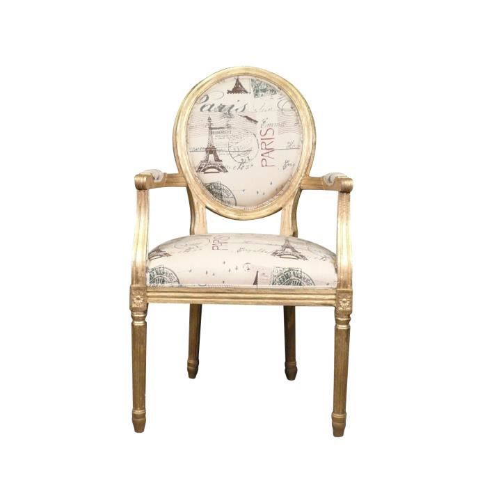 Fauteuil Louis XVI en bois doré baroque Achat Vente fauteuil