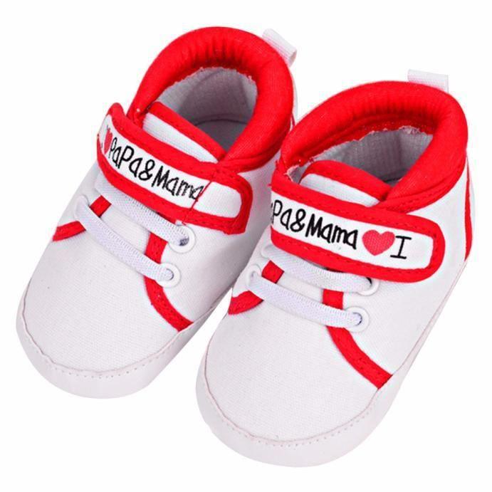 Chaussures bébé Infant Kid Garçon Fille douce Sole Canvas Sneaker Toddler nVATdjI