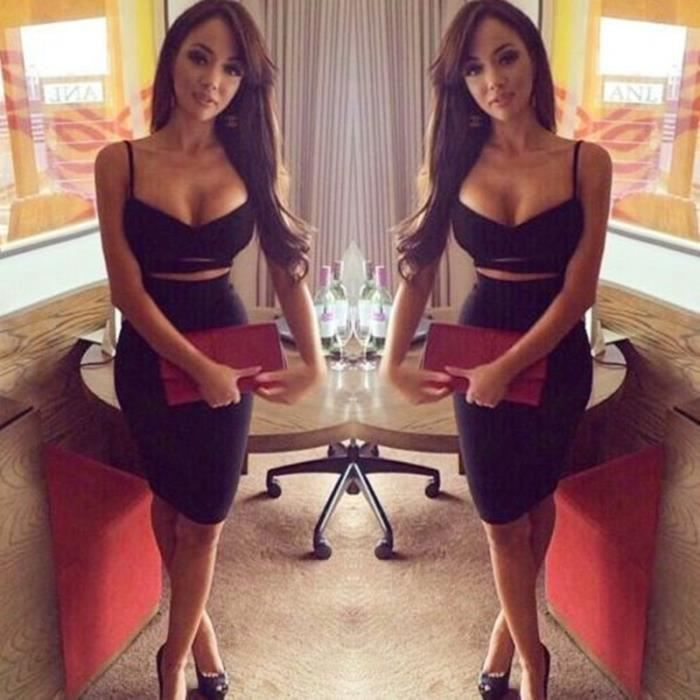 Women dress sexy strap dress hollow out female dress sexy bodycon dress Camisole