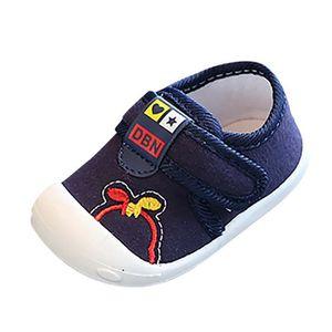 Lettre Cartoon bébé nouveau né tout petits non Slip Casual Sneaker Chaussures à semelle souple