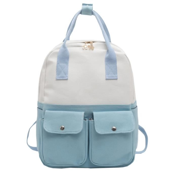 Fashion Hit Canvas Tote Bag School Pageare472 Backpack Color Women Shoulder Students rBtfwB